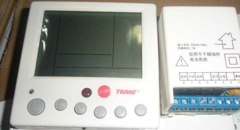 特灵空调配风机盘管液晶温控器tht00001c无背光无遥控