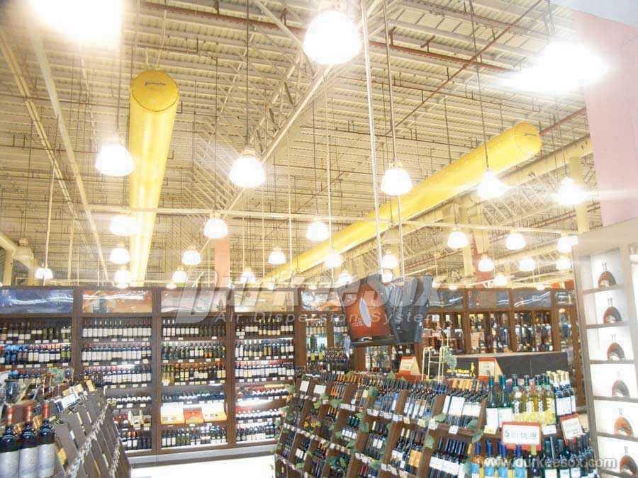 超市专用布袋风管,杜肯索斯(武汉)空气分布系统有限公司