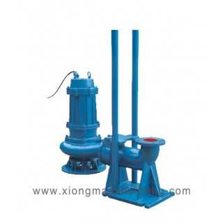 WQ 250-600-9-30不锈钢自动耦合潜水排污泵,上海雄茂水泵厂