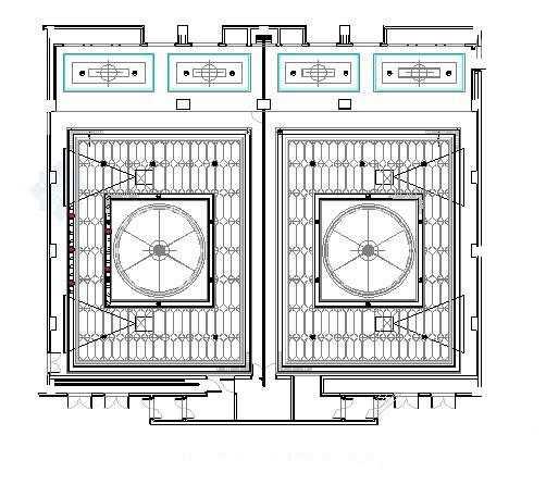宴会厅天花平面图